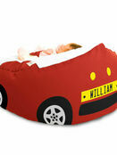 Gaga Luxury Cuddlesoft Racing Car Baby Bean Bag - Choose your favourite colour additional 1