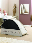 Sun & Sleep Pop-Up Bubble Travel Cot in White with Stars additional 4