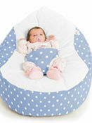 Gaga Cuddlesoft Bright Polka Dot Cream Baby Bean Bags additional 2