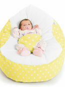 Gaga Cuddlesoft Bright Polka Dot Cream Baby Bean Bags additional 4