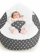 Gaga Cuddlesoft Bright Polka Dot Cream Baby Bean Bags additional 1