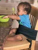 Clippasafe Toddler Dining Chair Harness - Black additional 2