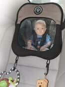 Prince Lionheart Rear Car Seat Baby View Mirror - Brown/Tan additional 1