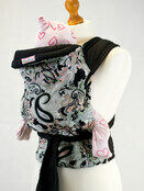 Palm and Pond Mei Tai Baby Carrier - Black Paisley Design additional 1