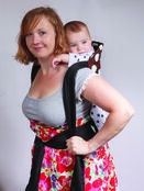 Brown/Blue Spot Soft & Strong Mei Tai Baby Sling additional 3