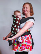 Brown/Blue Spot Soft & Strong Mei Tai Baby Sling additional 4