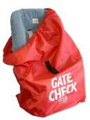 J L Childress Gate Check Bag for Baby Car Seats - Red additional 1