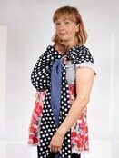 Baby Ring Sling Carrier - Blue & White Polka Dot additional 5