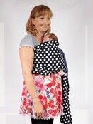 Baby Ring Sling Carrier - Blue & White Polka Dot additional 6