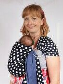 Baby Ring Sling Carrier - Blue & White Polka Dot additional 7