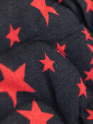 Palm & Pond Baby Mei Tai Sling - Black with Red Stars Pattern additional 2