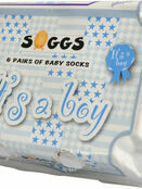 Xplorys Soggs, Box of 6 Socks - It\'s a Boy additional 3