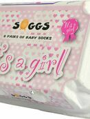 Xplorys Soggs, Box of 6 Socks - Its a Girl additional 3