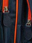 Palm and Pond Changing Back Pack Navy with Orange Trim additional 3