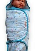 Swaddle Wrap - Blue Zoo additional 1