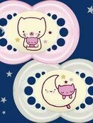 MAM Night Soother 6+ months 2 pack additional 6