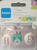 MAM Style Soother 6+ mths 2 Pack - Choose your Style additional 6