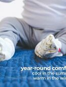 Goumi Kids Soft Stay On Booties which adjust to fit as your baby grows Bamboo/Organic Cotton Boots additional 4