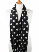 Palm and Pond Nursing Scarf - Black with Cream Spots additional 2