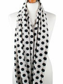 Palm and Pond Nursing Scarf - Cream with Black Spots additional 2