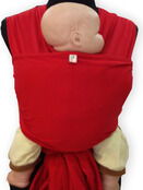 Palm and Pond Stretchy Cotton Baby Wrap Sling - Red additional 6
