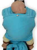Palm and Pond Stretchy Cotton Baby Wrap Sling - Baby Blue additional 6