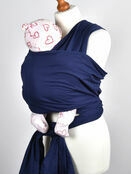 Palm and Pond Stretchy Cotton Baby Wrap Sling - Navy additional 2
