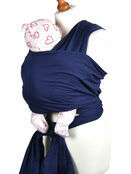 Palm and Pond Stretchy Cotton Baby Wrap Sling - Navy additional 1