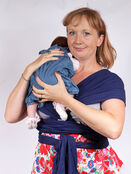 Palm and Pond Stretchy Cotton Baby Wrap Sling - Navy additional 6