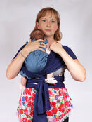 Palm and Pond Stretchy Cotton Baby Wrap Sling - Navy additional 7