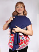 Palm and Pond Stretchy Cotton Baby Wrap Sling - Navy additional 8