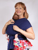 Palm and Pond Stretchy Cotton Baby Wrap Sling - Navy additional 9