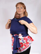 Palm and Pond Stretchy Cotton Baby Wrap Sling - Navy additional 10
