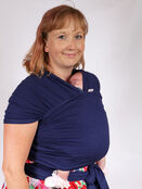 Palm and Pond Stretchy Cotton Baby Wrap Sling - Navy additional 4