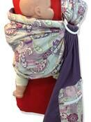 Purple Paisley Baby Ring Sling additional 2