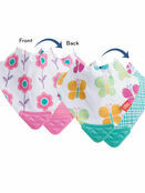 Nuby Bandana Teething Bibs 2 Pack Pink Flower/Butterfly additional 2