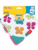 Nuby Bandana Teething Bibs 2 Pack Pink Flower/Butterfly additional 5