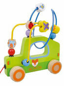 Jumini Pull Along Bead Maze Car Development Toy additional 1