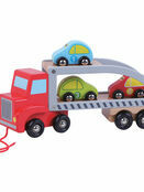 Jumini Natural Wooden Car Carrier Development Toy additional 1
