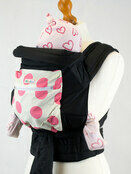Pink Spots Mei Tai Baby Sling With Hood and Pocket additional 2