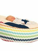 Gaga™ Cuddlesoft Chevron Baby Beanbag - Choose your colour additional 3
