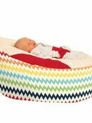 Gaga™ Cuddlesoft Chevron Baby Beanbag - Choose your colour additional 1