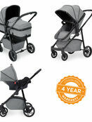 Ickle Bubba Moon 3 in 1 Travel System with 0+ Galaxy Car Seat additional 30