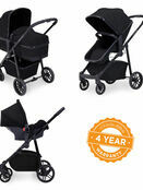 Ickle Bubba Moon 3 in 1 Travel System with 0+ Galaxy Car Seat additional 4