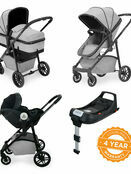 Ickle Bubba Moon i-Size 3 in 1 Travel System Mercury Car Seat With Isofix Base additional 17