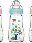 MAM Feel Good Glass Baby Bottle 260ml - Choose your colour additional 1