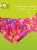 Zoggs Adjustable Reusable Baby Swim Nappy one size 3 to 24 mths - Choose your design additional 5