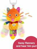 LAMAZE Flannery the Fox Baby Sensory Toy, Clip On Baby Pram Toy & Pushchair Toy with Baby Teether additional 6