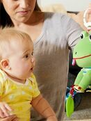 Lamaze Jibber Jabber Jake Baby Toy, Clip on Pram and Pushchair Toy, Soft Cuddly Newborn Baby Toy Frog 0+ mths additional 7