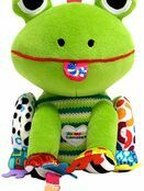 Lamaze Jibber Jabber Jake Baby Toy, Clip on Pram and Pushchair Toy, Soft Cuddly Newborn Baby Toy Frog 0+ mths additional 1